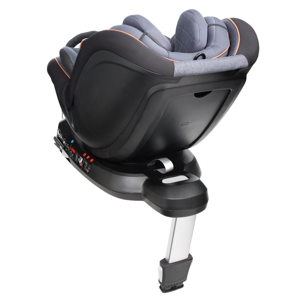 Mee-go 360 car seat tan trim 3 quart rear reclined