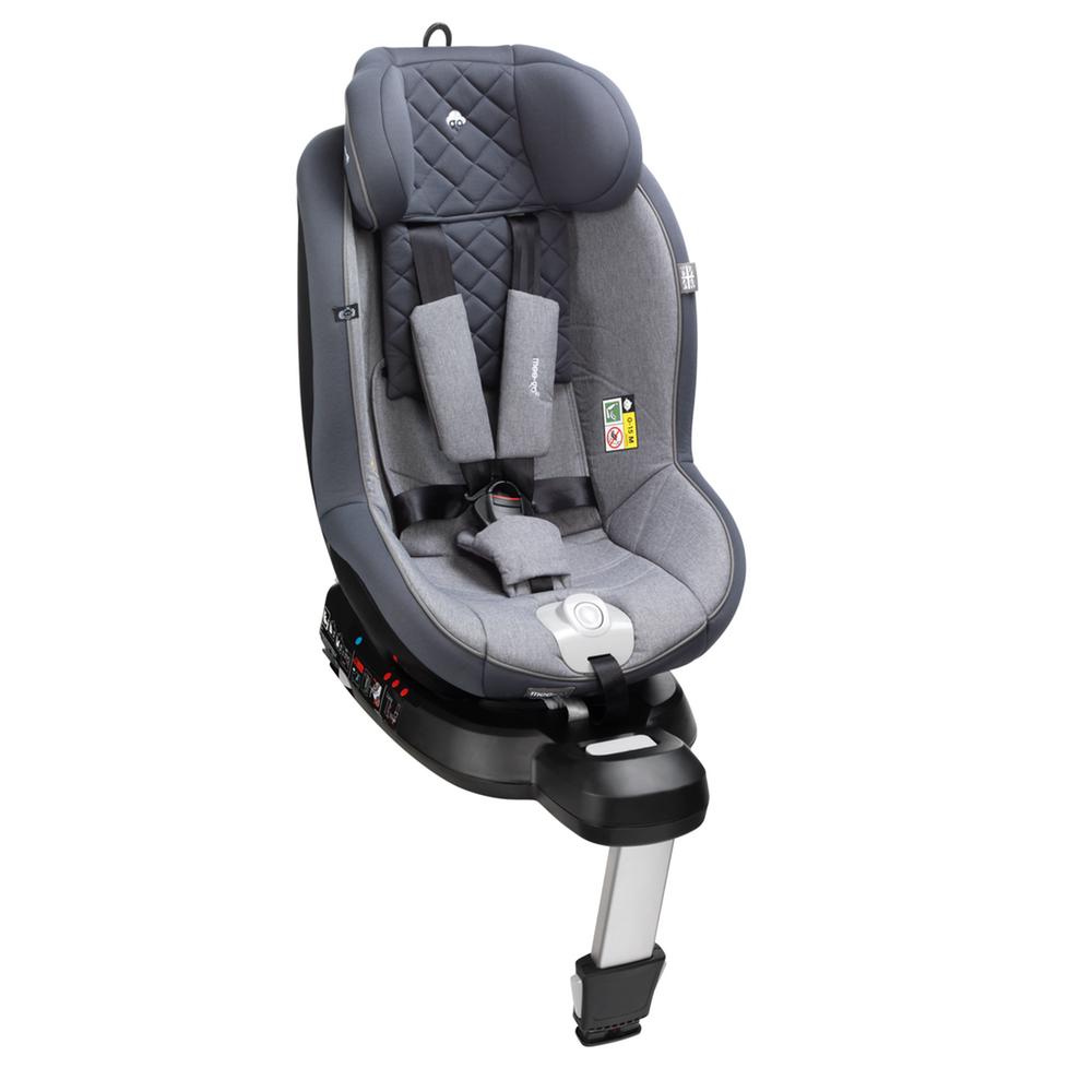 mee-go 360 car seat steel grey high back
