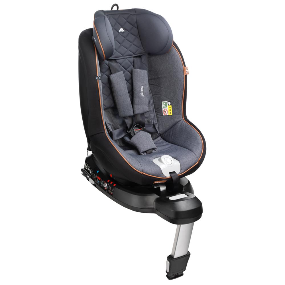 mee-go swirl car seat tan trim high back setting